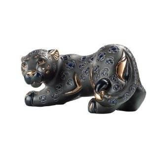 Haeger potteries black panther ceramic sculpture - Ceramic black panther statue ...