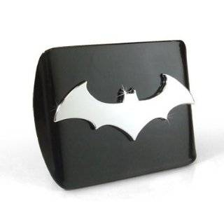 Batman Black & Chrome Trailer Hitch Cover with Oval Batman