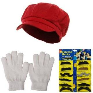 Red Super Mario Costume Hat Clothing