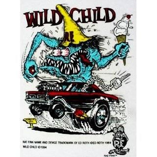 Rat Fink WILD CHILD Hot Rod Decal / Sticker