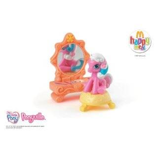 McDonalds 2007 My Little Pony Toy #8 Cotton Candy With Vanity