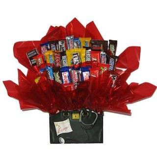 Chocolate Candy Bouquet in a Doctors Bag Get Well Soon gift box