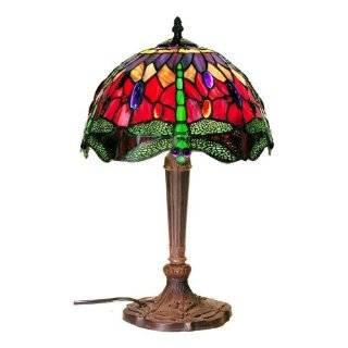 Dale Tiffany TT60582 Aurora Table Lamp, Mica Bronze and