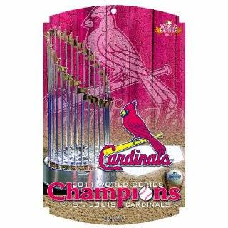 MLB St. Louis Cardinals 11 by 13 Wood Sign Sports