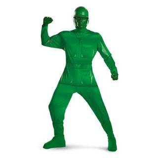 Adult Green Army Man Toy Costume Clothing