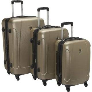 Choice Luggage Toronto Three Piece Hardside Spinner Luggage Clothing