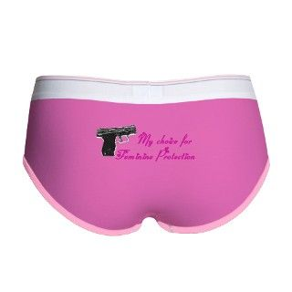 Feminine Protection Womens Boy Brief by FeminineProtect