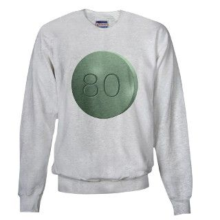 Oxycontin 80mg Green Pill Sweatshirt by WingDingDesigns