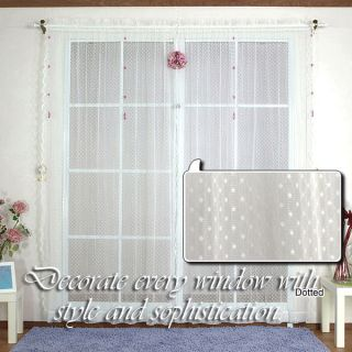Beautifully Jaquard Lovely Dot 84 inch Sheer Lace Curtain