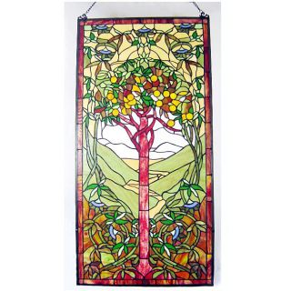 Tiffany style Stained Glass Life Tree Window Panel