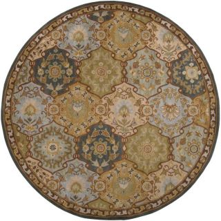 Hand tufted Coliseum Blue Wool Rug (6 Round)