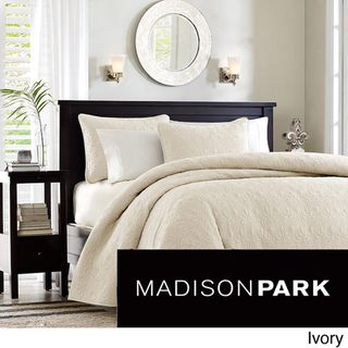 Madison Park Mansfield 3 piece Quilted Pattern Coverlet Mini Set