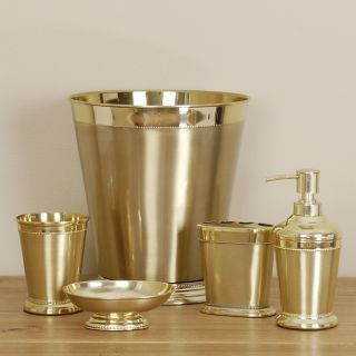 Bathroom accessories up to 79 off pg 2 for Gold bath accessories sets