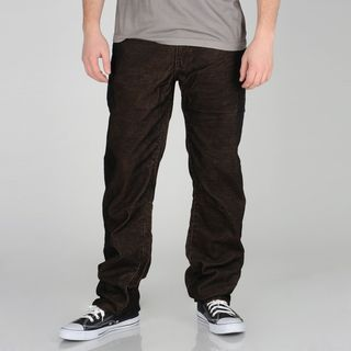 Ray Jeans Mens Washed Brown Corduroy Pants