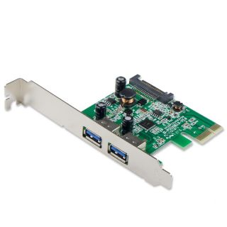 SYBA USB 3.0 PCIe 2 port Express Controller Card/ SATA Power Connector