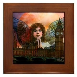 Framed Tiles : Angel Art by Eve