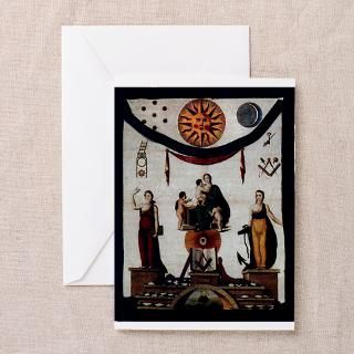 Antique Masonic Apron No. 2 Greeting Cards (Pk of