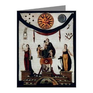 Antique Masonic Apron No. 2 Note Cards (Pk of 10)