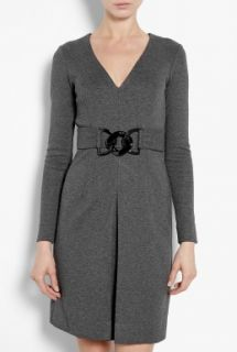 Milly  Eloise Link Belted Jersey Dress by Milly
