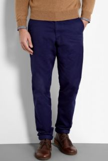 Oliver Spencer  Tennyson Navy Cotton Worker Tapered Chinos by Oliver Spencer