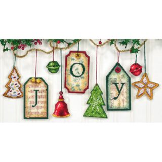 Dimensions Cross Stitch Craft Kit   Joy Gift Tag Ornaments