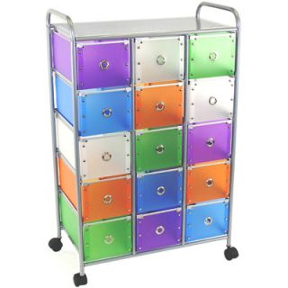 4D Concepts 15 Drawer Rolling Storage Style   15 Small Drawers