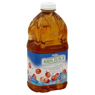 Meijer 100% Juice   White Cranberry   1 Bottle (64 fl oz)