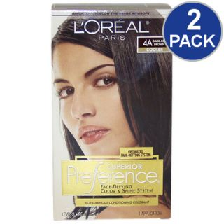 LOreal Superior Preference Fade Defying Hair Color   Drk Ash Brown #4A