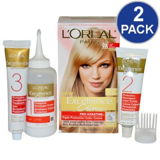 LOreal Excellence Creme Pro Keratine Hair Color   Light Ash Blonde #9A