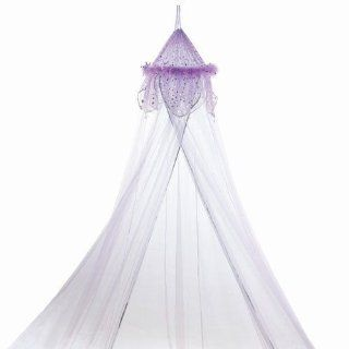 Feather Metallic Moon and Star Trimmed Girls Bed Canopy: Toys & Games