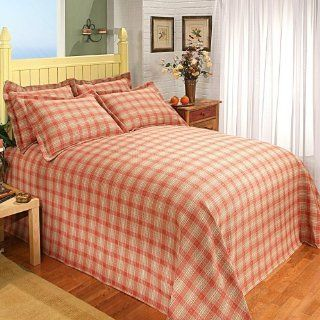 Fiona Plaid Comforter Size: Queen, Color: Red