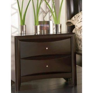 Coaster Contemporary Style Nightstand, Cappuccino Finish