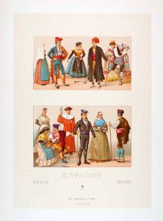 Traditional Gorro Dress   Original Chromolithograph: Home & Kitchen
