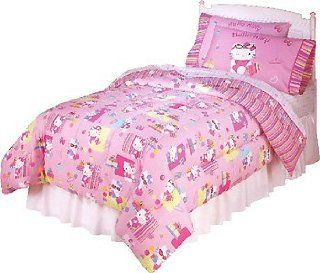 Kitty Shopper   5pc Girls Bedding Set   Full Size Pink Bed in a Bag