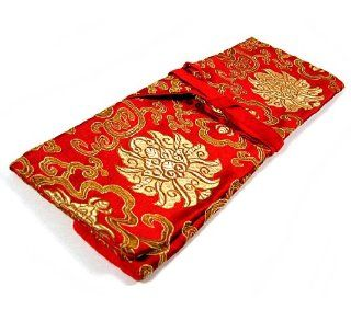TIBETAN TEXT HOLDER ~ Red ~ Tibetan Brocade Fabric ~ 5 x