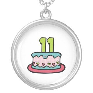 11 Year Old Birthday Cake Necklace
