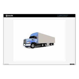 Cartoon Semi Truck 14 Laptop Skin