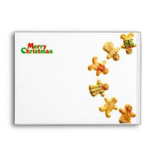 Cute Gingerbread Men Merry Christmas Envelope