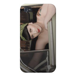 Fleetline Hot Rod Pin Up Girl Betty iPhone 4 Case