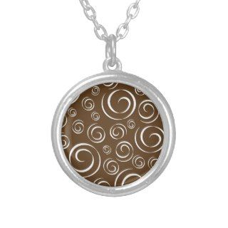Chocolate Brown and White Swirl Pattern Pt 81 Jewelry