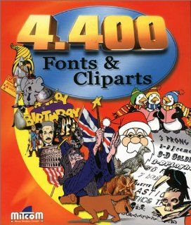 4400 Fonts und Cliparts. CD  ROM für Windows 95/98/ NT. 1.600