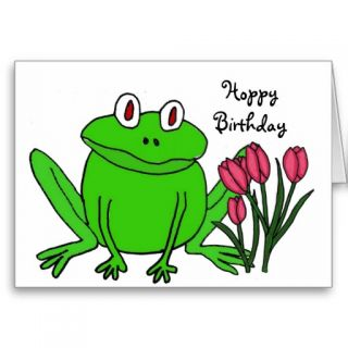 AH  Funny Frog Birthday Card