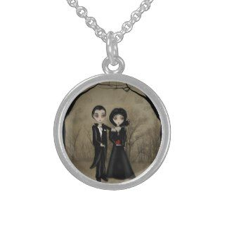 Gothic Romance Sterling Silver Necklace