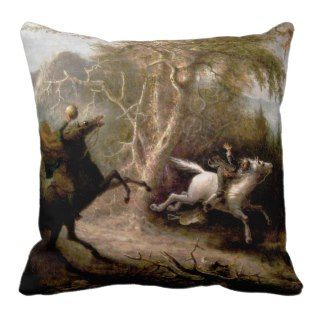 Sleepy Hollow Headless Horseman Pillow