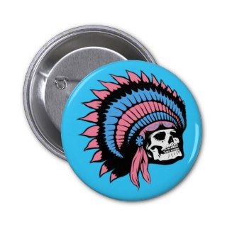 Indian Punk Rock Headdress Buttons