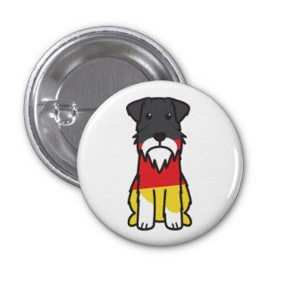 Miniature Schnauzer Dog Cartoon Buttons
