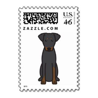 Manchester Terrier Dog Cartoon Stamp