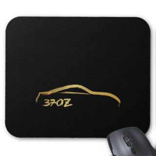 Fairlady 370z Gold Brush Stroke Logo Mousepads
