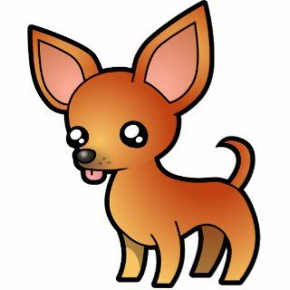 Cartoon Chihuahua (red smooth coat) Photo Cut Out