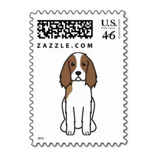 English Springer Spaniel Dog Cartoon Postage Stamp